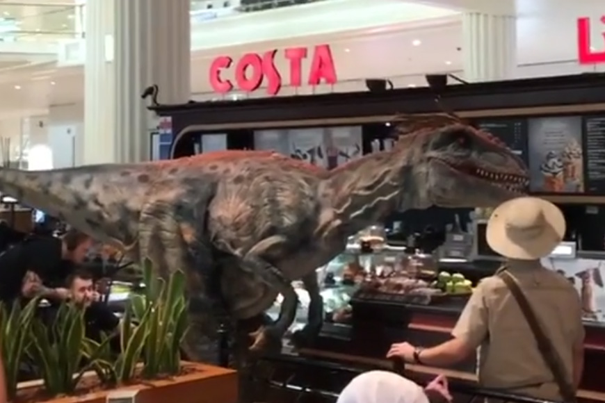 Video: Dinosaurs Let Loose at Dubai International Airport