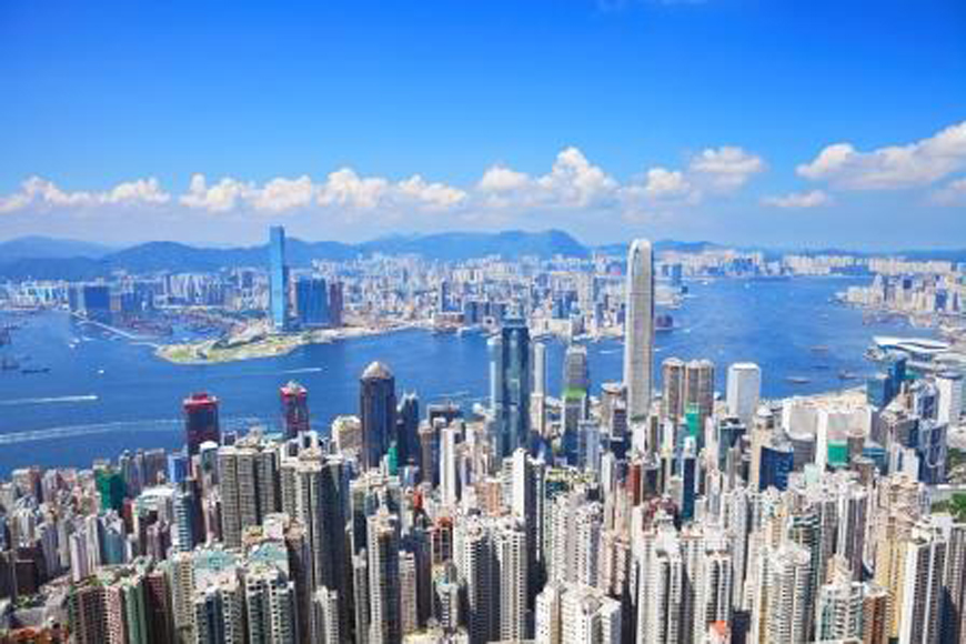 Residential areas in Hong Kong