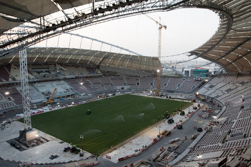 Sneak Peak of Qatar's First 2022 FIFA World Cup Stadium
