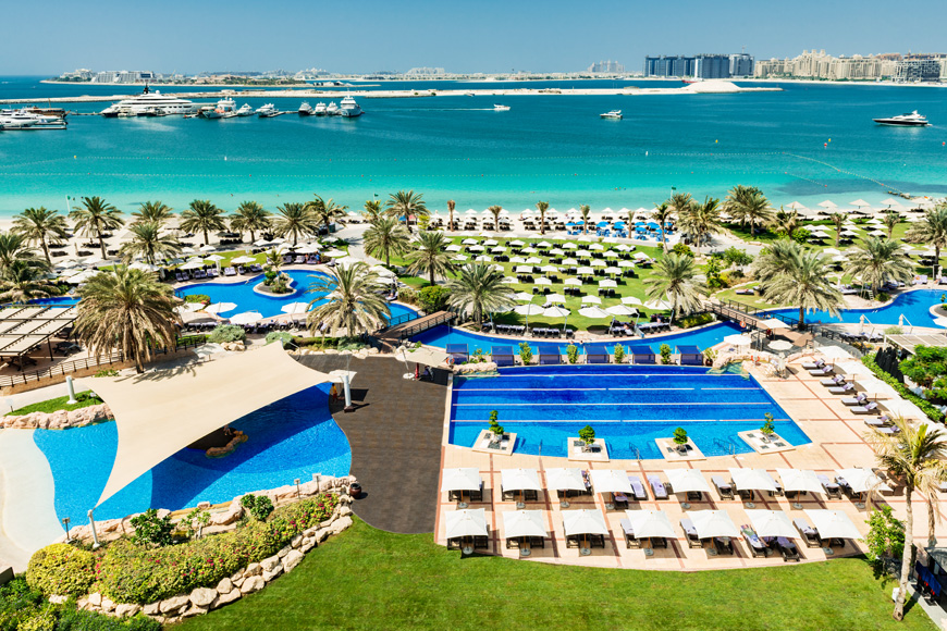 Pool and beach day at Club Mina Beach Club in Dubai