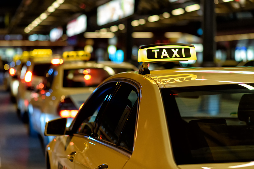 Getting about by taxi in Hong Kong
