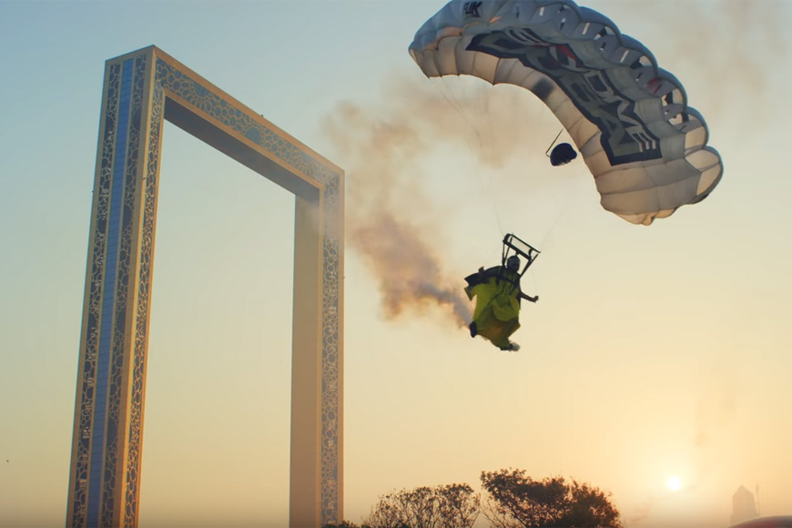Screengrab Youtube: XDubai Expo2020 Stunt Video