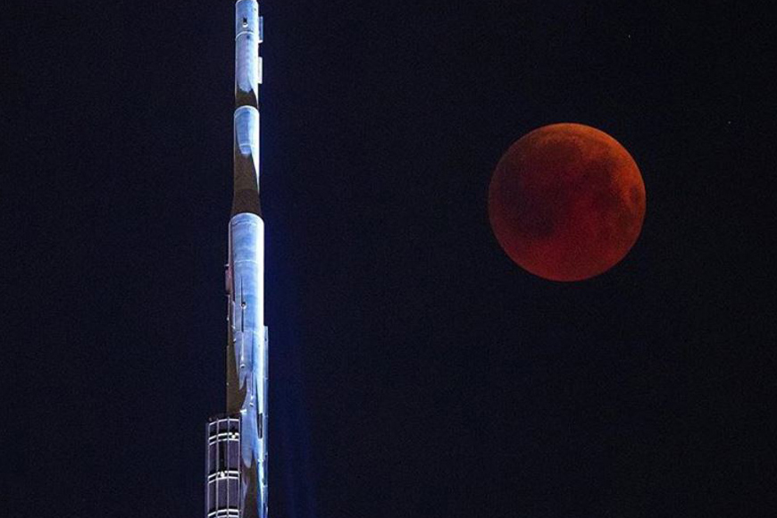 Lunar Eclipse and Blood Moon in Dubai 2018