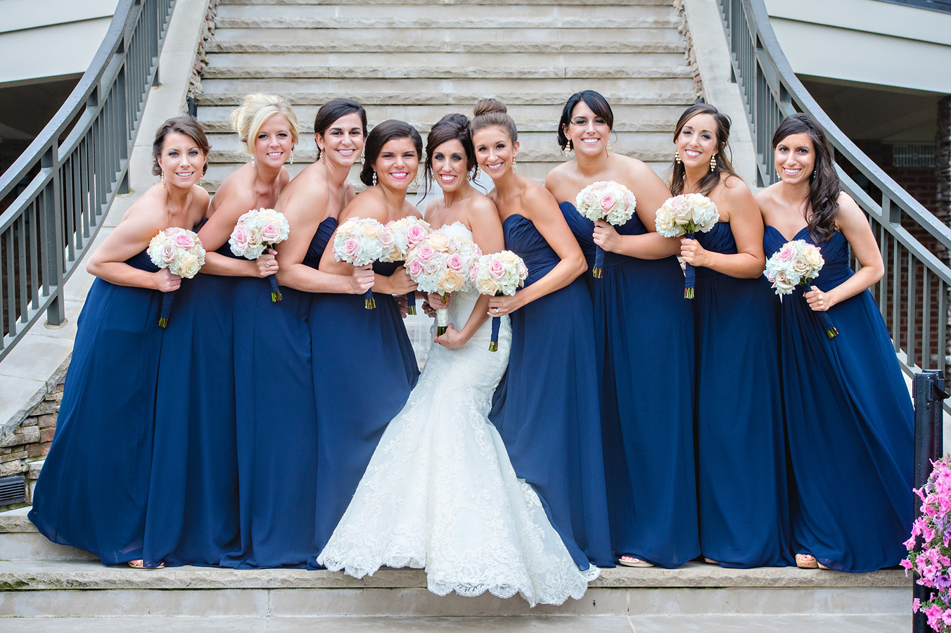 Traditional bridal party image
