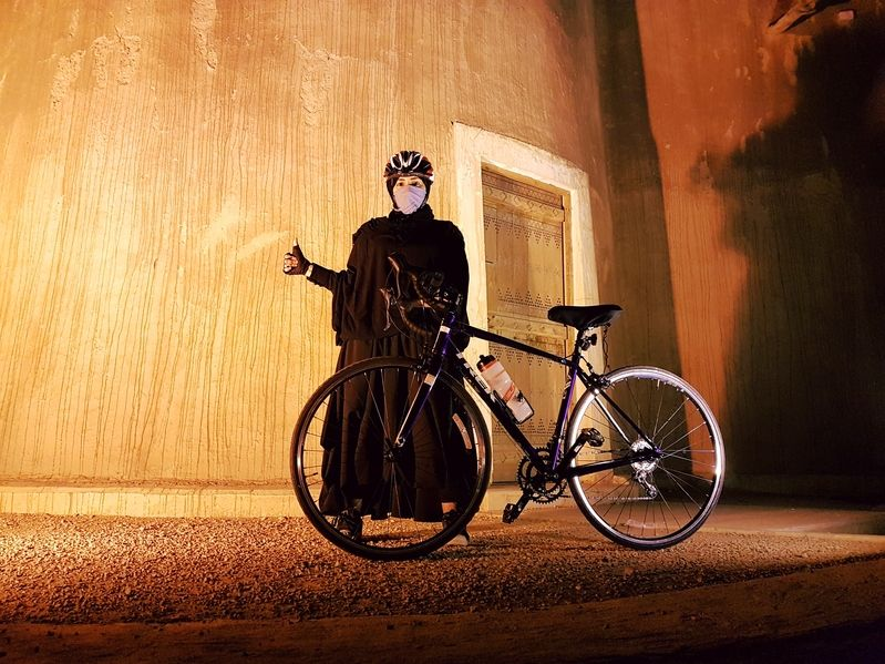 Women cycling in saudi arabia
