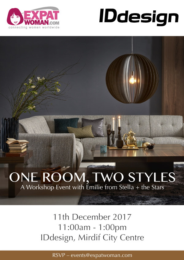 One Room, Two Styles: A Free Interiors Workshop Event with IDdesign