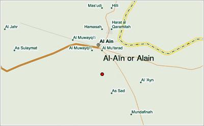 Al Ain Map Directions to Abu Dhabi