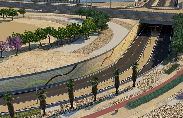 Al Messila underpass with Al Rayyan Road