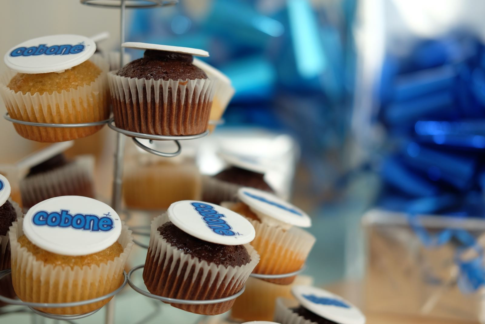 Cobone cupcakes for 2 millionth customer celebration