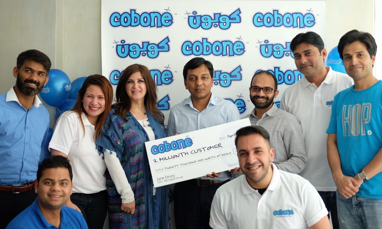 Cobone 2 millionth customer with the team