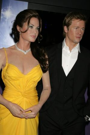 Madame Taussads Brad and Angelina Wax Figures