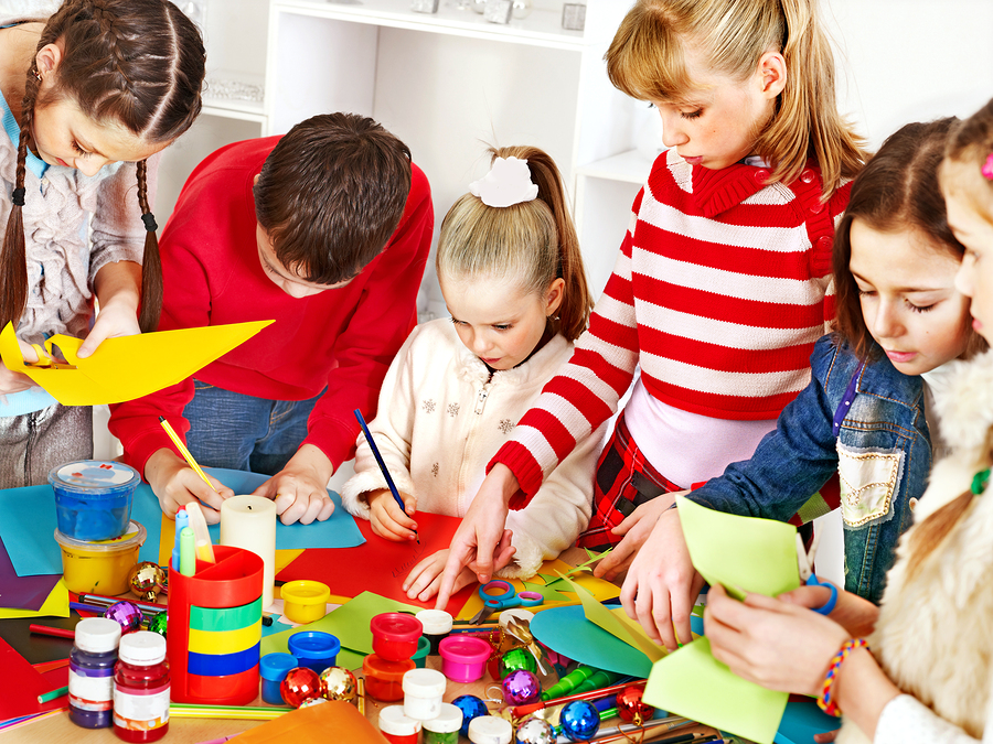 Clubs and activities in afterschool program