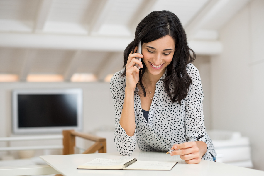 Taking notes during phone interview