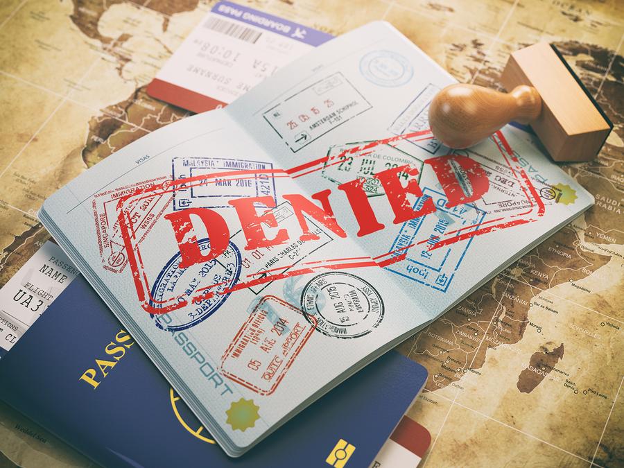Denied visa