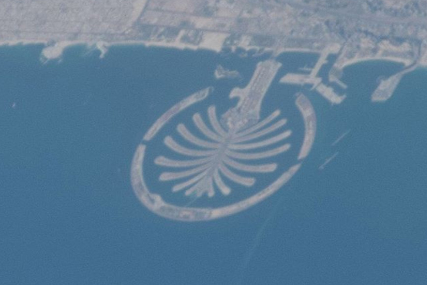 Pictures of Dubai from the International Space Station