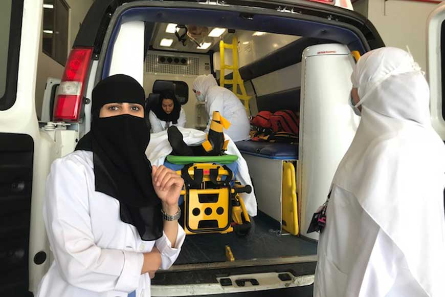 Saudi Doctors Launches All-Female Ambulance