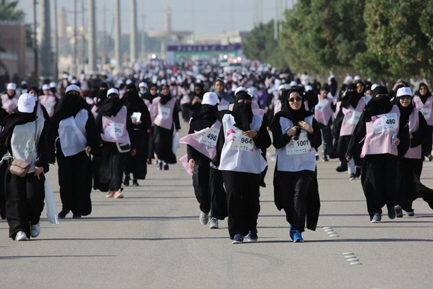 Saudi Arabia Hosted Their First All-Woman Marathon