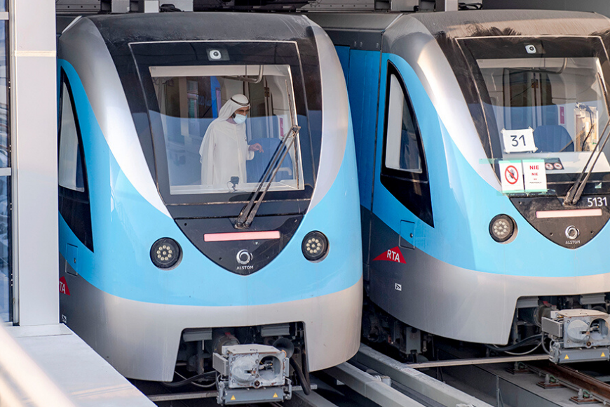 Take a Look Inside the New Expo 2020 Dubai Metro Line