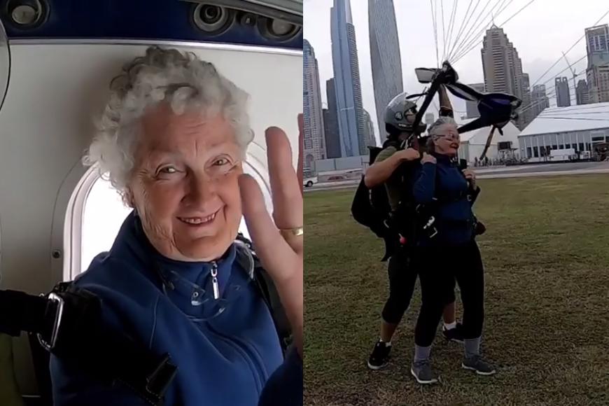 Screengrab IG: Skydive Dubai