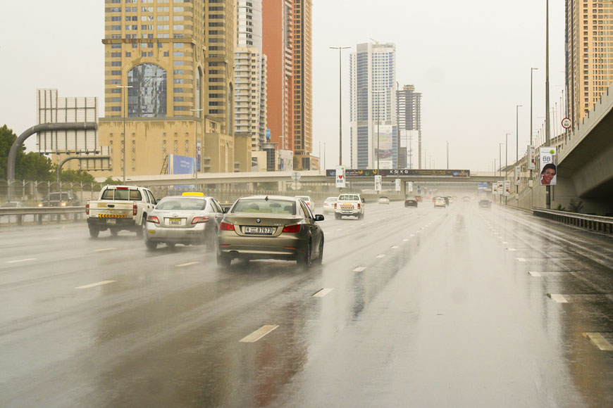 Rain in Dubai and UAE