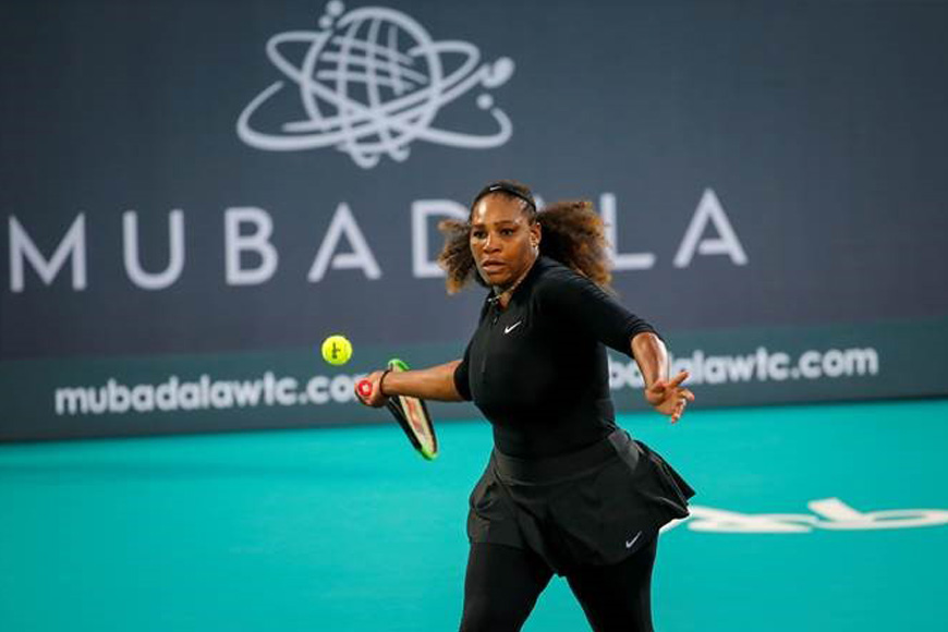 Serena Williams at Mubadala World Tennis Championship 2018