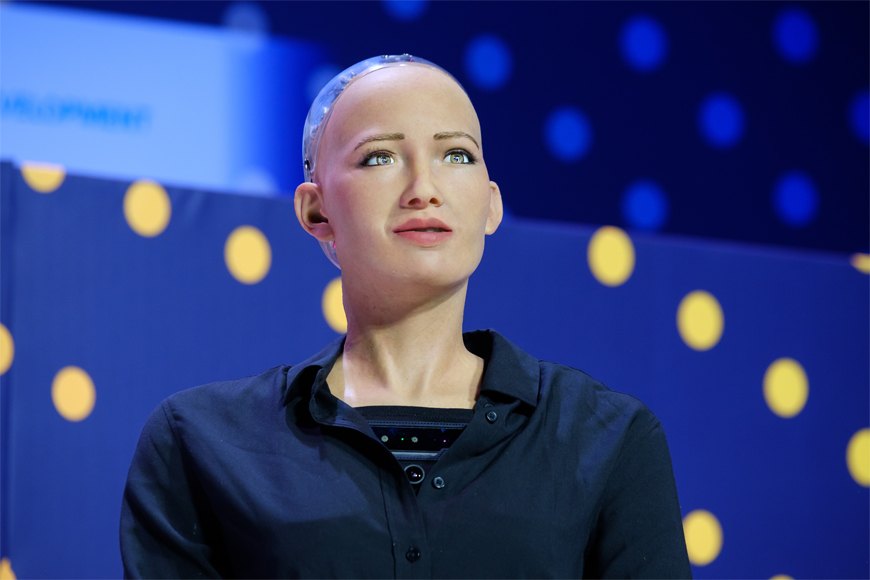 Sophia the AI Robot in Dubai