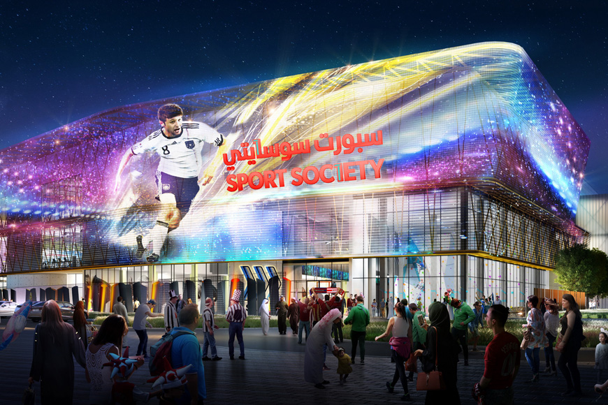 Sport Society in Dubai: world's largest sports shopping mall