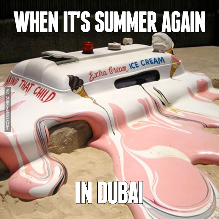 When the ice cream truck is melting, too...