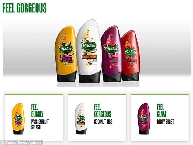 Radox shower gel 'for women'