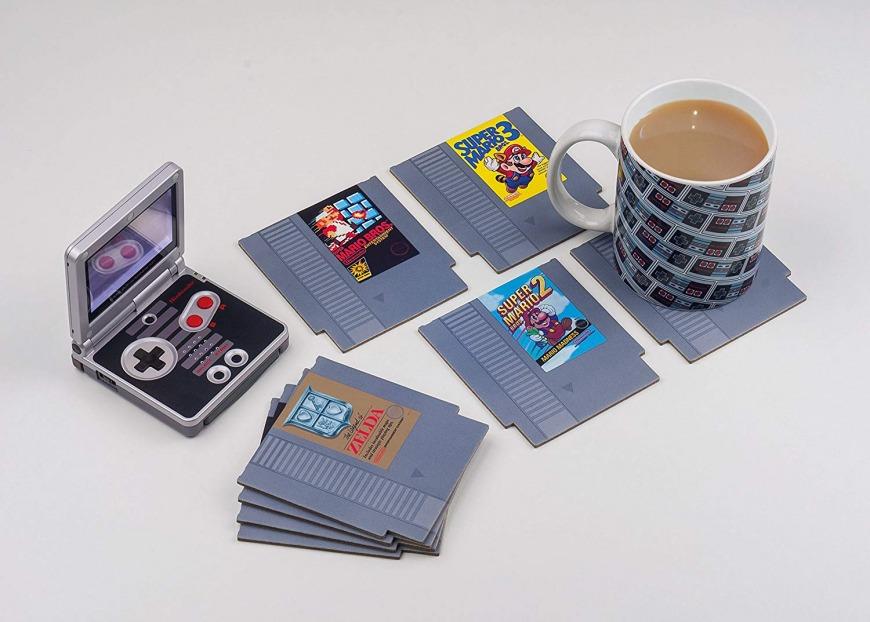 Nintendo NES Cartridge Coasters for Drinks