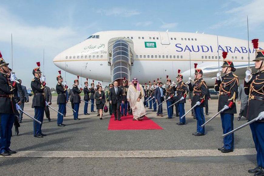 Saudi's Crown Prince Mohammad bin Salman arrives in France