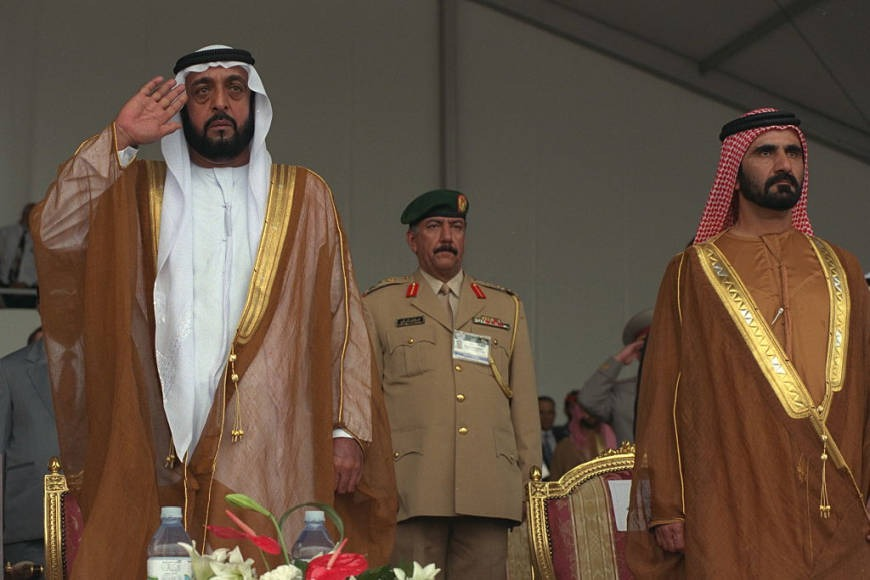 UAE president and vice-president at IDEX in Abu Dhabi history