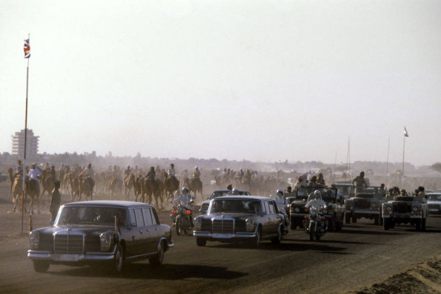 Queen Elizabeth II motorcade in Abu Dhabi history