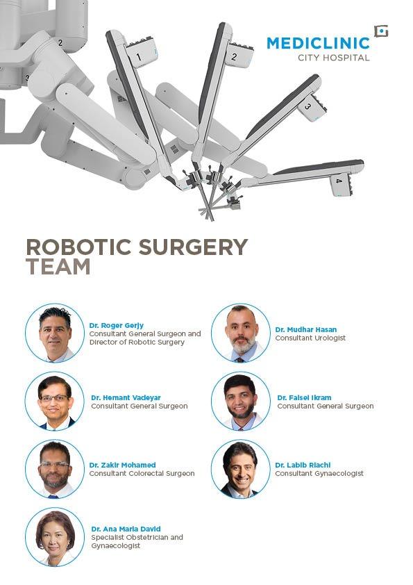 Mediclinic City Hospital Robotics Surgery Team in Dubai