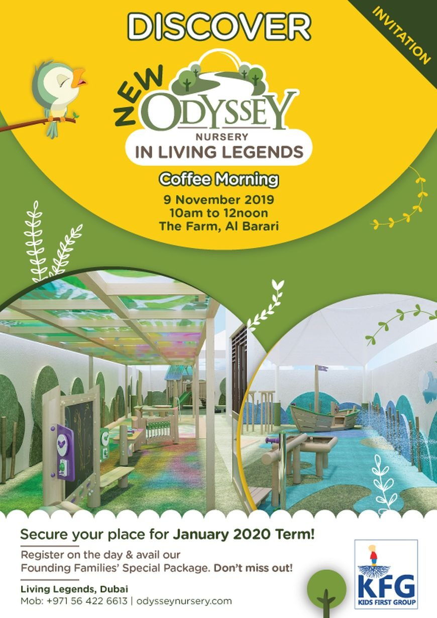 Discover Odyssey Nursery in Living Legends at our Coffee Morning