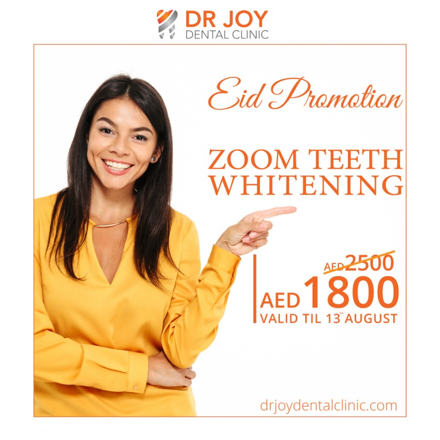 Zoom Teeth Whitening for AED1800