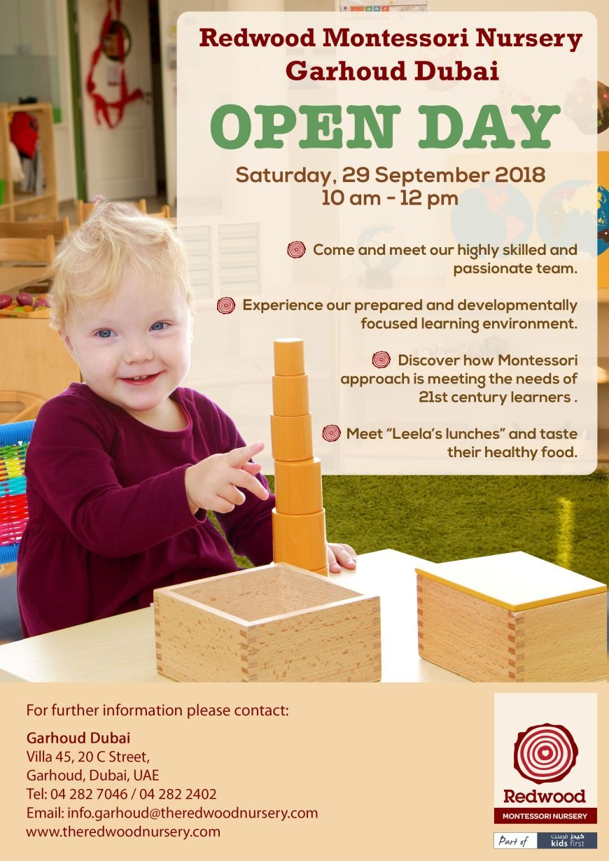 Open Day at Redwood Montessori Nursery in Dubai