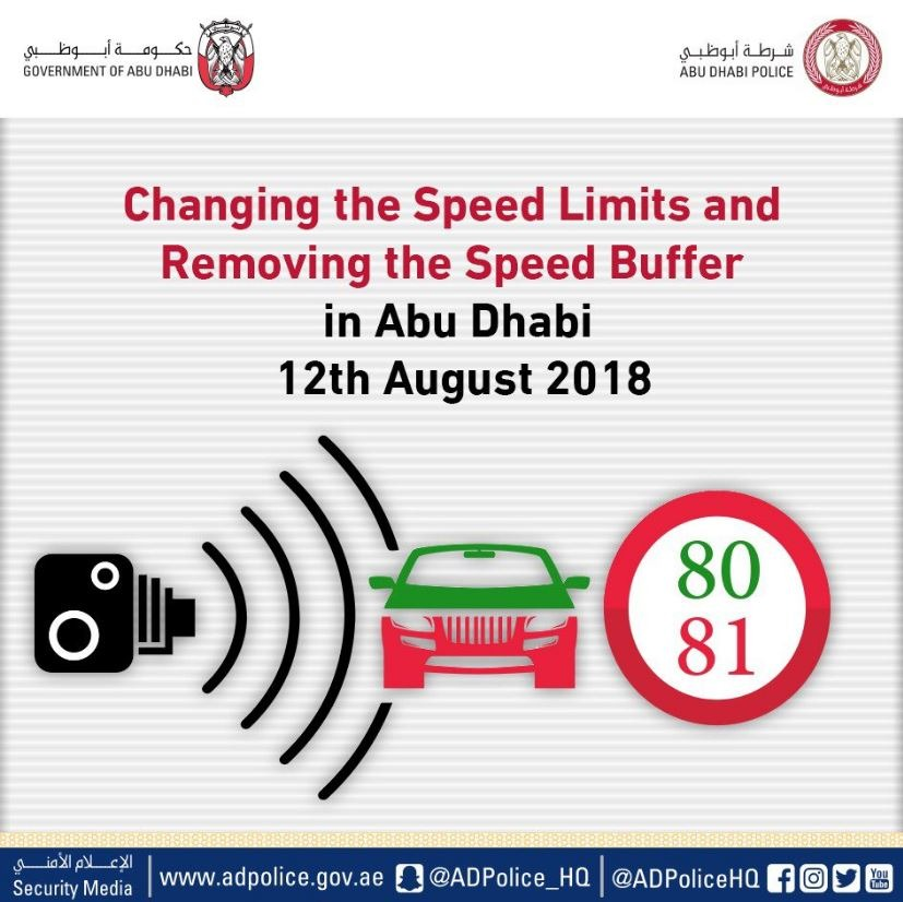 Abu Dhabi removes speed limit buffer