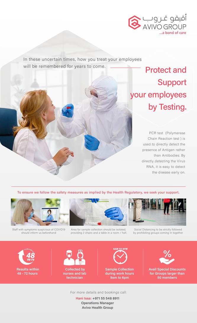 Covid-19 tests in Dubai