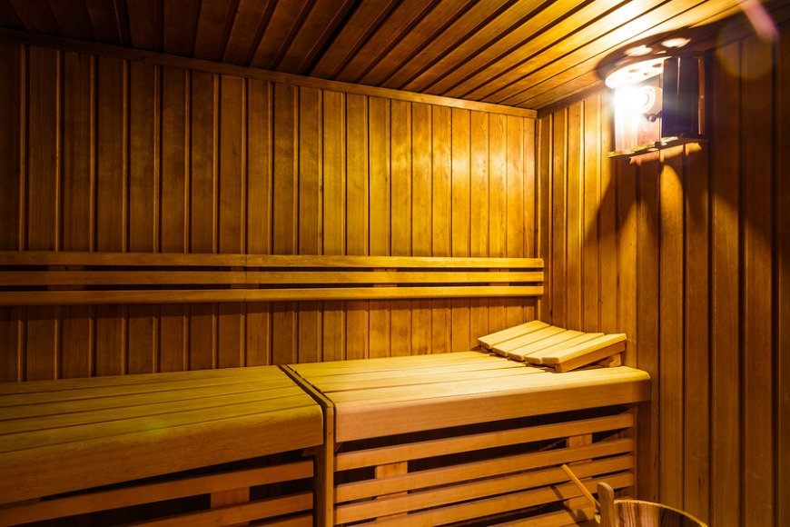 Head to the sauna