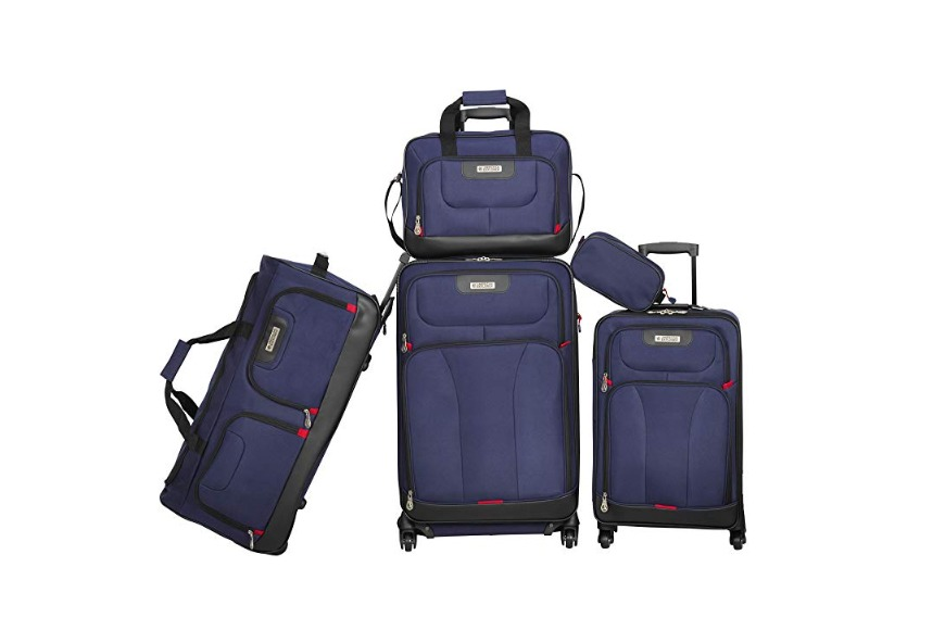 American Explorer Softside Spinner Luggage Set