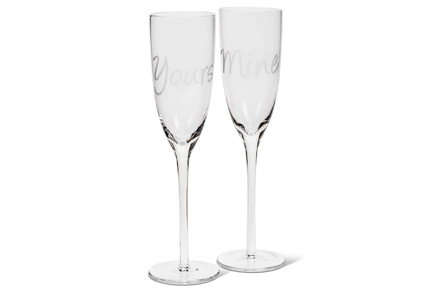 Abbott Collection Yours & Mine Wine Glasses Set