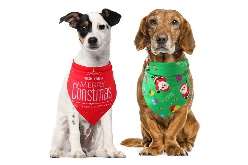 Christmas dog bandanas