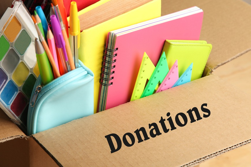 Where to donate school supplies in UAE