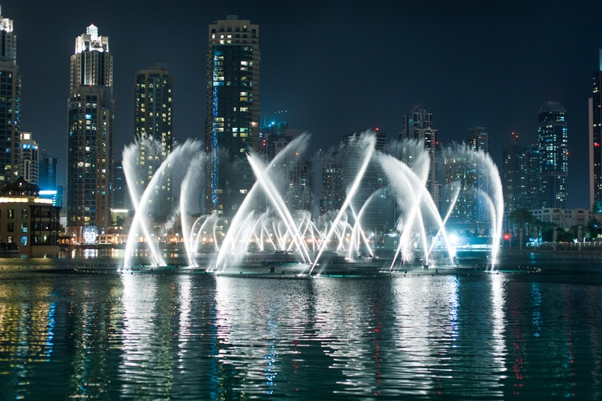 The Burj Khalifa reuses 15 million gallons of water every year