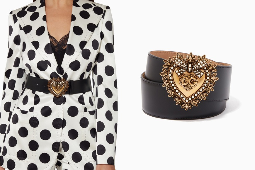 Dolce & Gabbana leather belt on Ounass