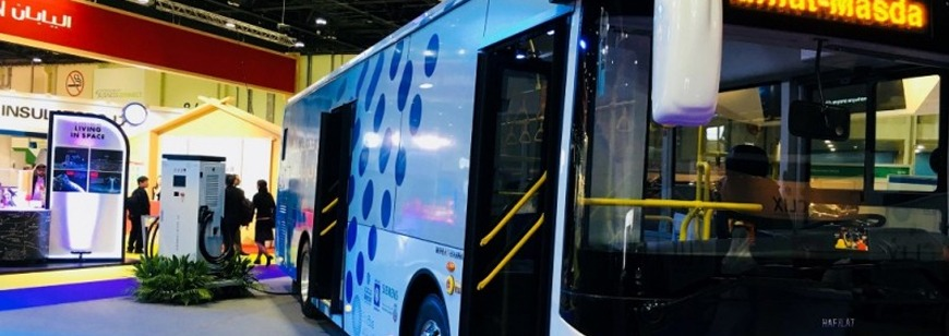 Electrics bus now operating in Abu Dhabi