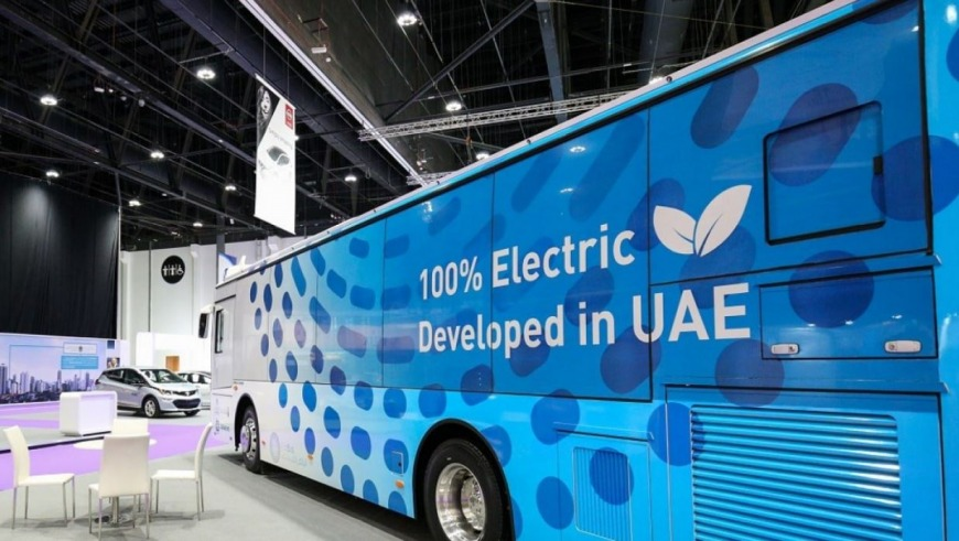 Electric bus in Abu Dhabi