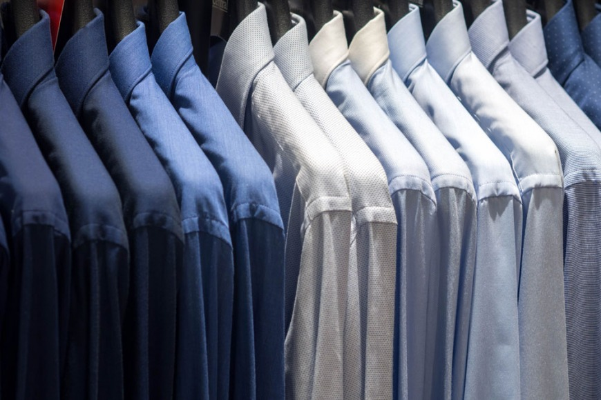 Prioritise clothes rails for hanging suits and shirts
