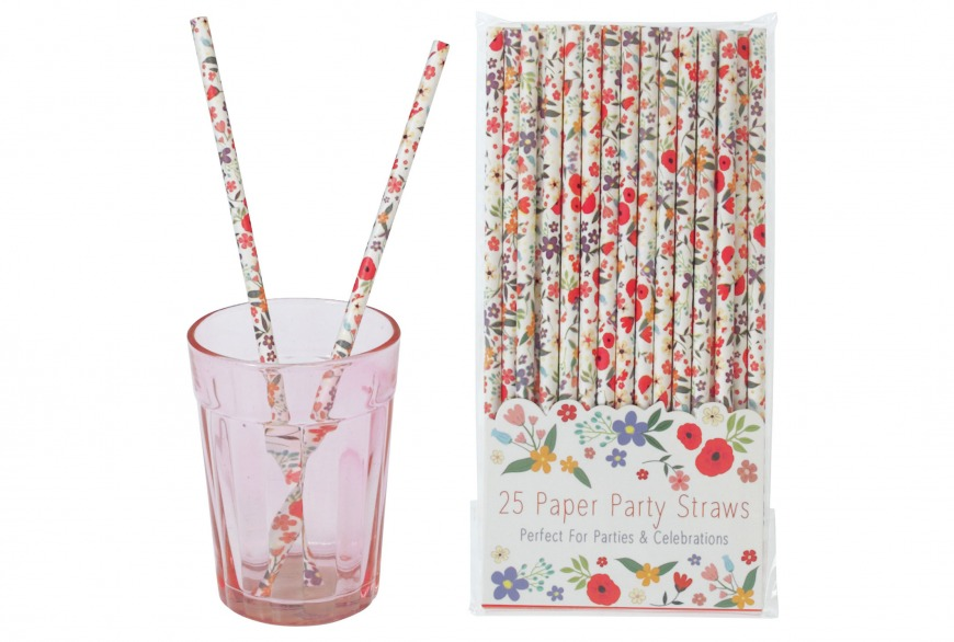 Summer Meadow Paper Straws (pack of 25), £2.95/AED13.78, Rex London